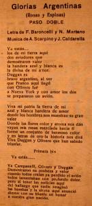 GLORIAS ARGENTINAS-ROSAS Y ESPINAS   PASO DOBLE-