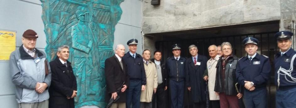 Inauguración de escultura del Mayor Eduardo Olivero
